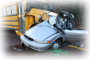 Bus and Car Crash