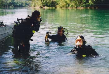 Water Patrol Dive Team in Water