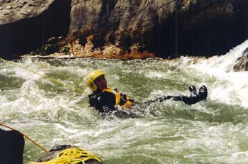 Water Patrol Dive Team in the rapids